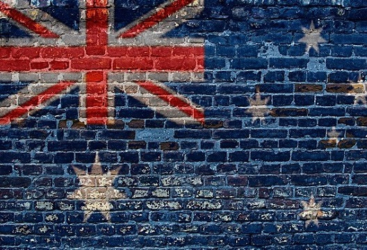 Australian-flag-and-brick-wall 2