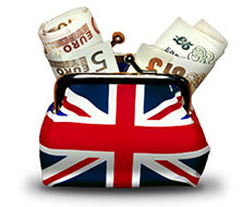 British flag coin purse