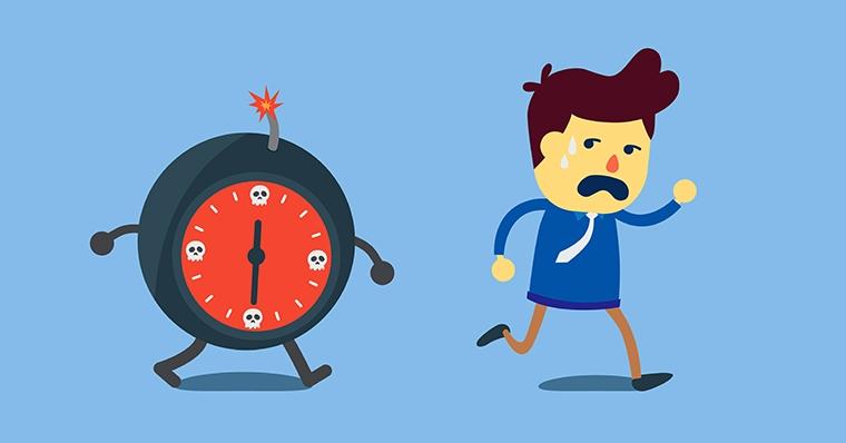man-running-from-deadline
